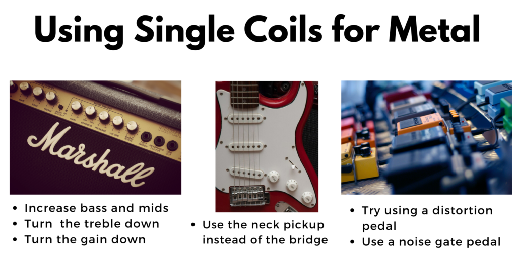 how to use single coil pickups for metal