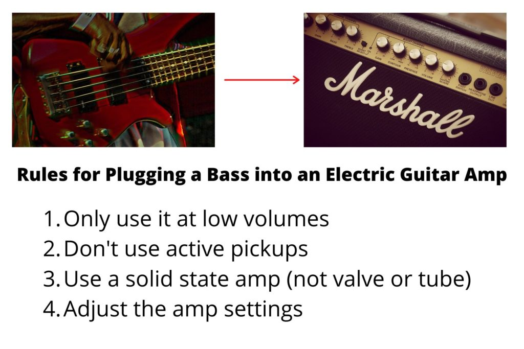 how to plug bass into guitar amp